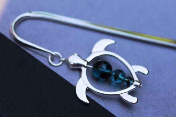 Turtle Bookmark, Turtle Gift Idea, Beaded Bookmark Turtle Theme Birthday Gift