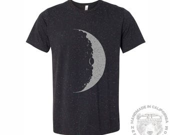 Mens MOON T Shirt s m l xl xxl (+ Color Options) hand screen printed custom