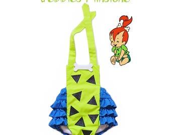 Pebbles Flinstones Romper / Halloweeen Costume / Romper