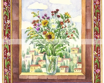 Judaica,Art,Peace be to you,high quality print