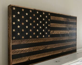 Small Rustic|Hand Carved|American Flag|Rustic American Flag|Reclaimed Wood|Wood American Flag|Wood Wall Art|Americana|Rustic Decor|Wood Flag