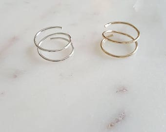 Midi Coil Ring/ Toe rings, Gold filled, Sterling Silver