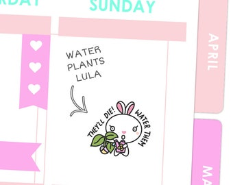 Water Plants Lula / Planner Stickers