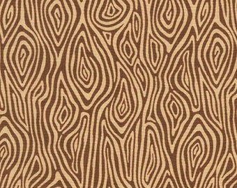 Quilting Cotton, Burly Beavers Fabric, Woodgrain in Hazelnut Cotton, Hipster fabric, Brown Fabric, Apparel Fabric, Robert Kaufman Fabrics