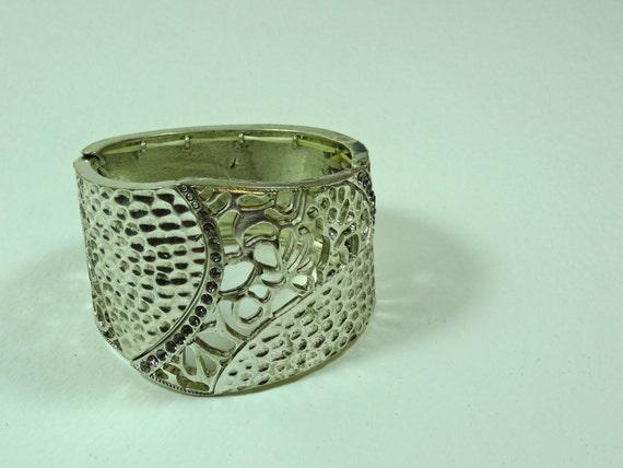 SJC10290 - Vintage silver color metal elastic adjustable bracelet bangle4