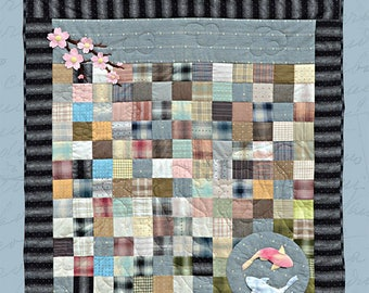Tranquility Art Wool Applique and Woven Quilt Pattern