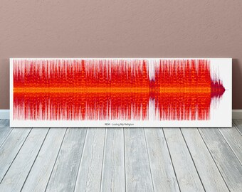 Losing My Religion Sound Wave Art Inspired By REM - 24x8 Inch Canvas, Poster or Digital Image - Free P&P