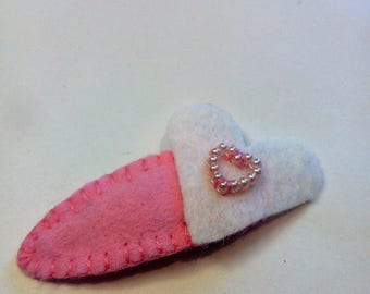 hair clip for little girl with two hearts