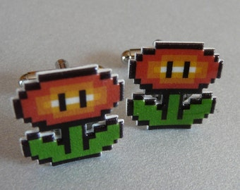 pseuderanthemum incendia (fire flower) - super mario 3 cufflinks