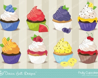 Cupcake Clipart Cupcake Clip Art Instant Download  Digital Cupcake Food Clipart Scrapbooking Dessert Clipart Party Clipart Embroidery