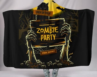 Zombie Party Plush Wearable Hooded Blanket