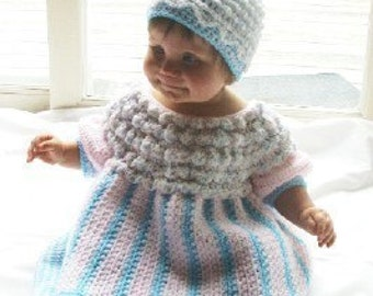 Girls Cups Cake Dress and Hat Crochet Pattern Infant to 2T pdf 406