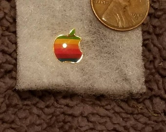 vintage APPLE computers original lapel pin