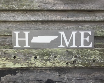 Distressed Tennessee Home Sign
