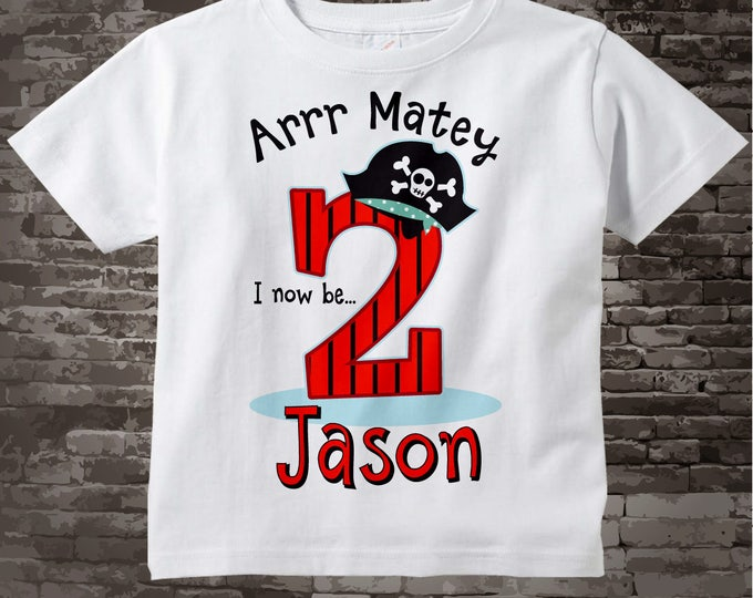 Pirate Birthday T-Shirt or Onesie Bodysuit for 2 year old boy   Personalized 09192014d