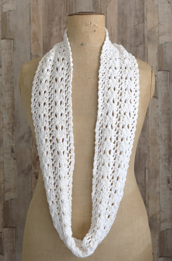 Items similar to KNITTING PATTERN Simple Lace Scarf easy ...