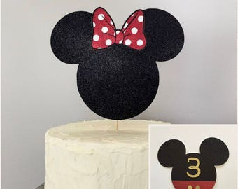 Minnie or Mickey Cake Topper