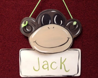 Monkey personalized sign