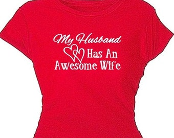 Wives Valentines Day Gift Pretty Red Valentine T Shirt Love Statement Tee Shirts Red Tops Gift for Lover Wife Girlfriend Special Gifts Girls