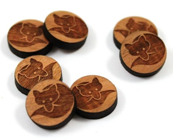 Laser Cut Supplies- 8 Pieces.Curled Fox Charms- Laser Cut Wood Curled Fox -Earring Supplies- Little Laser Lab Sustainable Wood Products