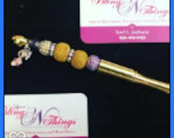 Purple Glam Beaded Pen