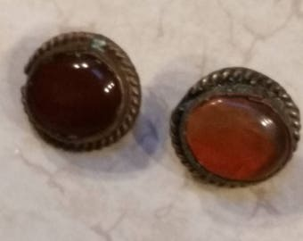 Antique Victorian Glass and Silver Buttons Southwest