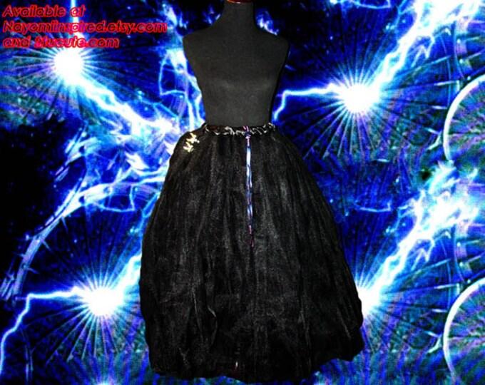 Full Figure Flowing Black Tulle Skirt