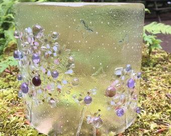 Fused Glass Allium Curve