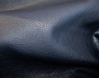 "Leather 20""x20"" DIVINE Dark Navy Blue Top Grain Soft Cowhide FULL Hides Available 2.5 oz / 1mm  PeggySueAlso™ E2885-04"
