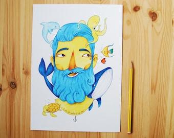 Blue captain