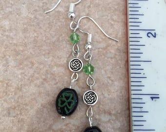 Clover/Celtic knot earrings.