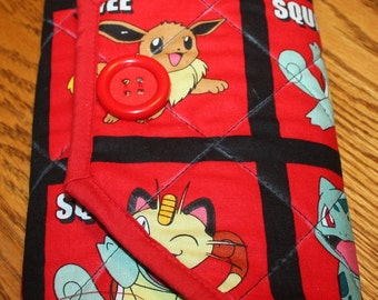 Pokemon Quilted Notebook Cover Clutch