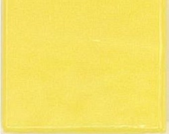 25 - 3/4 inch CANARY YELLOW  Vitreous Glass Mosaic Tiles