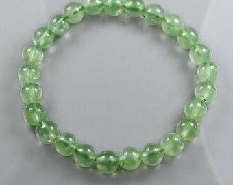Prehnite Bead Bracelet Natural Polished Jewelry CPG85