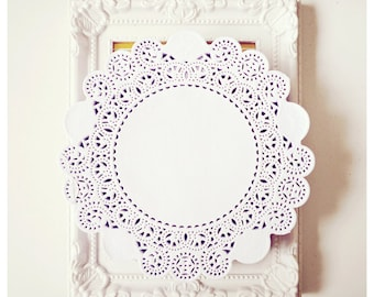 White Lace Paper Doily for Wedding decoration, Scrap booking or card making / pack