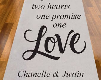 Two Friends Two Hearts One Promise One Love Personalized Wedding Aisle Runner (MIC-A1221)
