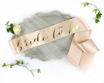 Bachelorette Sash - Bride to Be Sash - Bachelorette Party - Bride Gift - Blush Bride Sash - Bridal Shower - Bachelorette Party Accessory