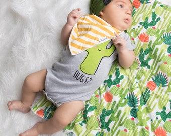 Saguaro Cactus Hug Baby Infant One Piece