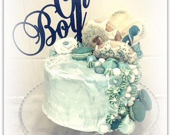 Oh Boy Cake Topper - Baby Shower Boy Cake Topper - Baby Shower Party Decorations - Baby Shower Party Decor - Oh Boy Party Cake Topper - Boy