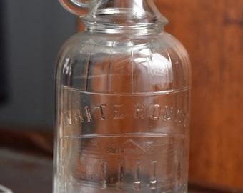 Vintage Pint Sized White House Vinegar Glass Bottle