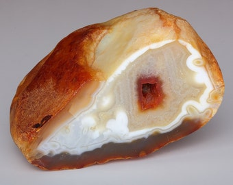 Beautiful Large Polished Fairburn Agate End Cut