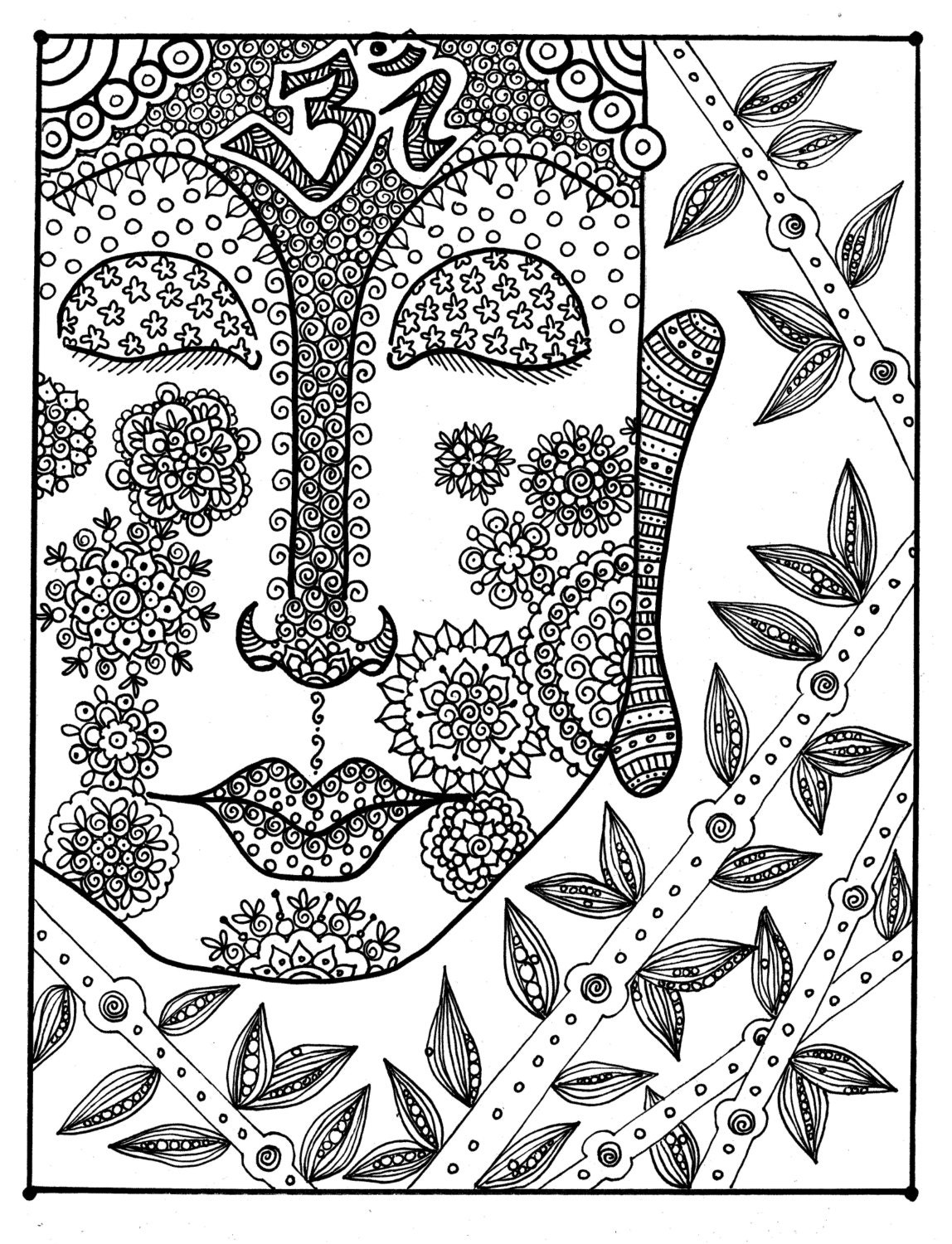 Zen out Coloring this Buddha coloring page will bring you