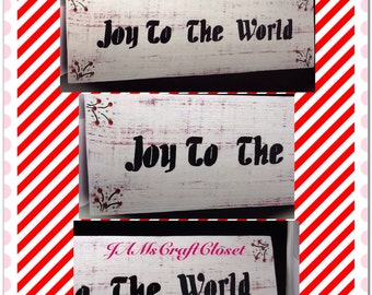 Wood Sign Joy to the World Handmade Hand Painted Holiday Decor Christmas Decor Christmas-Decoration Gift Home Decor Country Decor Victorian