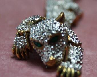 Stunning Crystal Cougar Brooch/Moveable Cougar Brooch/Birthday/Christmas