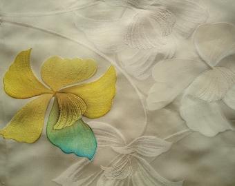 Kimono Silk Painted Orchids