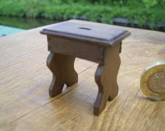 1/12th scale miniature medieval/tudor stool.