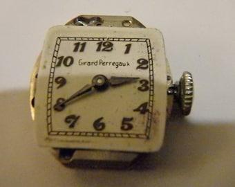 Vintage Girard Perregaux Ladies Watch Movement 68 2340 GXM parts repair  17 Jewels