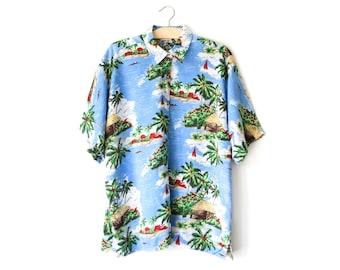 Vintage Hawaiian print shirt | men's S