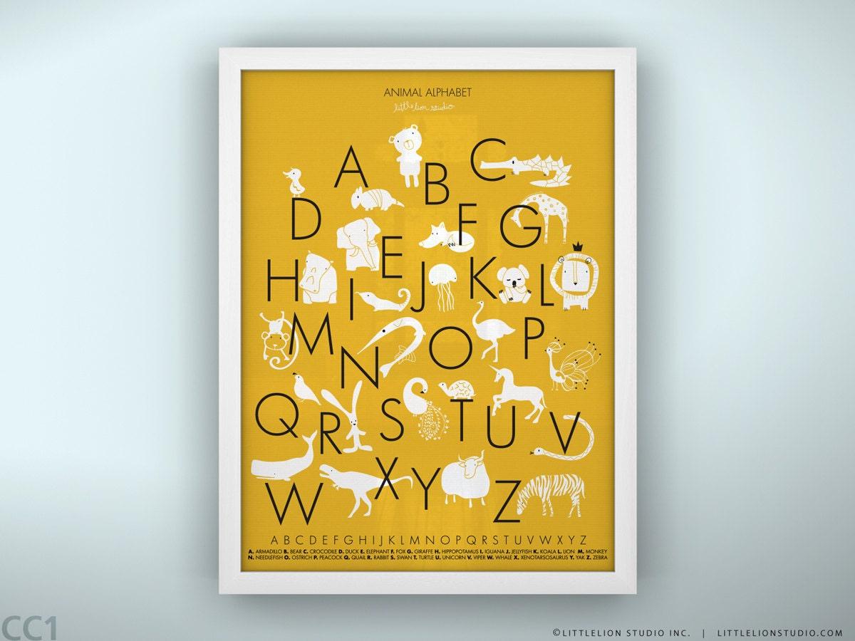 Kids alphabet poster wall art fun learning tools kids playroom