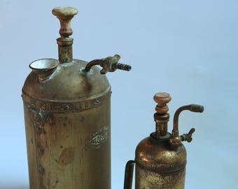 Vintage copper/brass oil pumps
